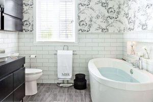 papier peint a peindre salle de bain